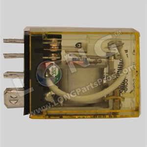 2-Ploe Lightred Relay, 24VAC